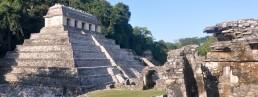 We sail where ancient mayan ruins lie
