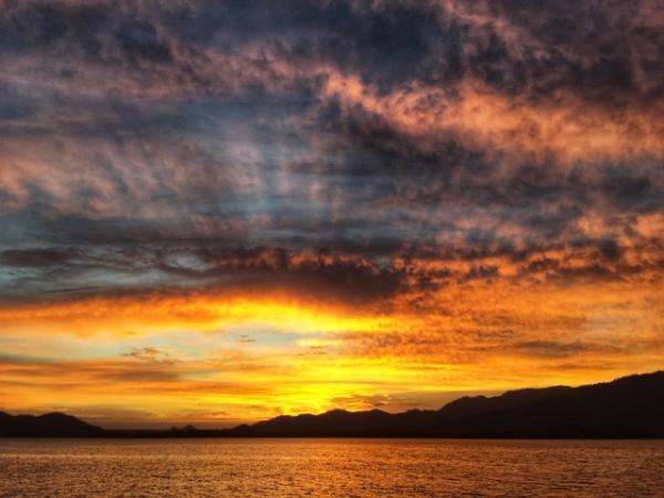 Sunset at golfo de nicoya