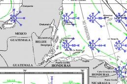 PILOT CHARTS GUATEMALA CARIBBEAN
