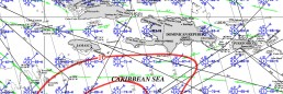 JAMAICA PILOT CHART AUGUST