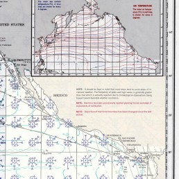 PILOT CHART OF THE EASTERN PACIFC COAST