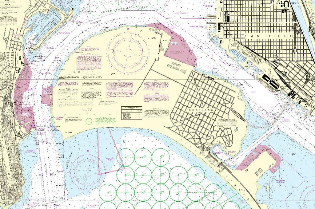 NOAA Nautical Chart 18773 San Diego Bay