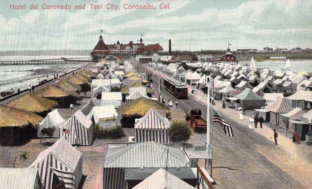 c. 1910, Hotel del Coronado and Tent City, Coronado, CA