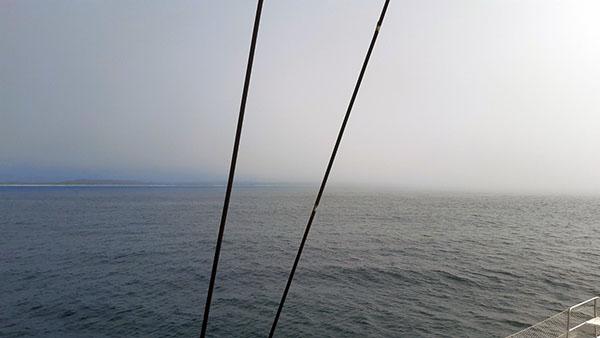CARINTHIA facing fog near Puerto Angel