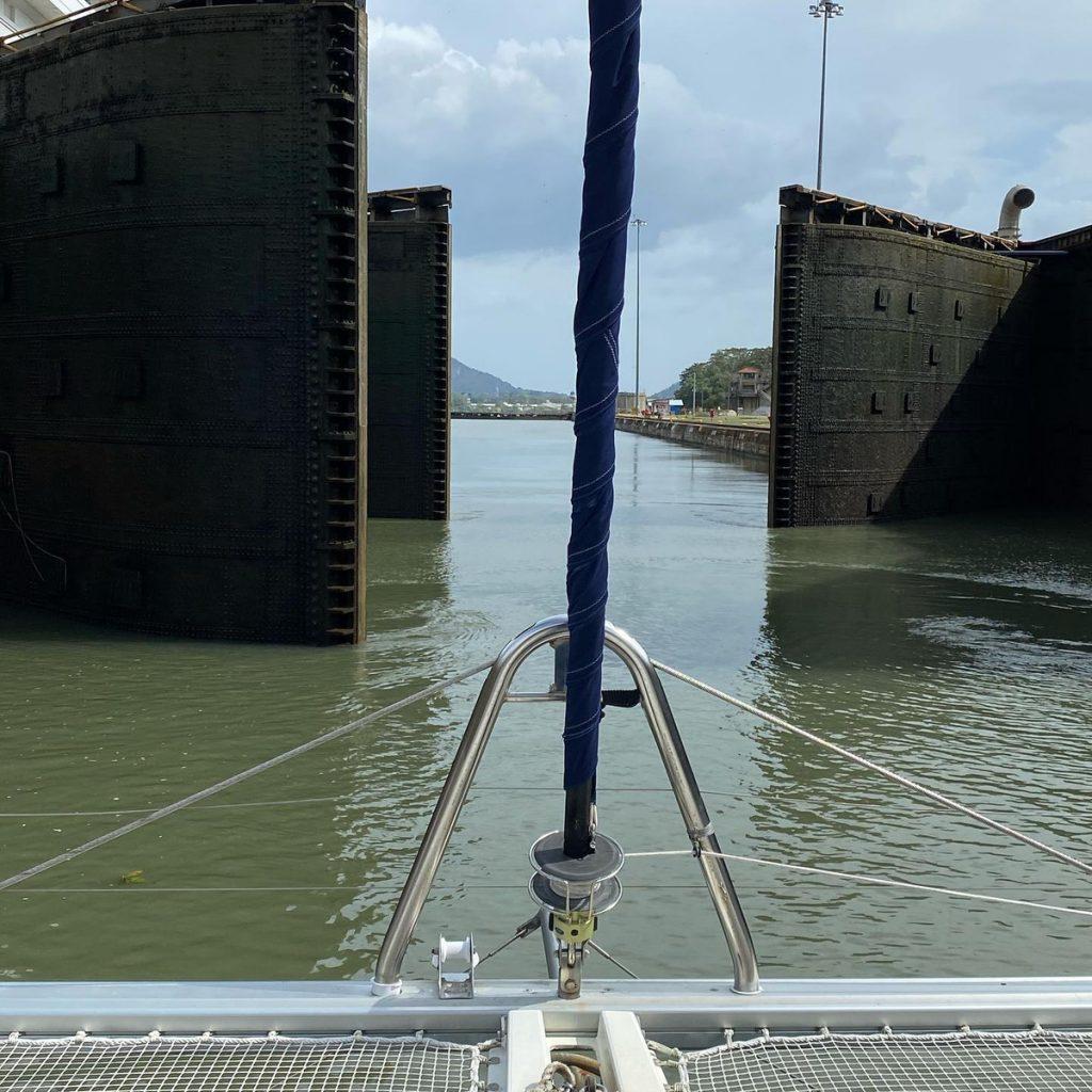 PANAMA CANAL Going through the locks