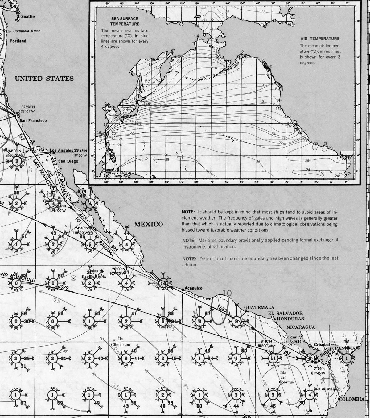 Pacific Coast Central America Pilot Charts