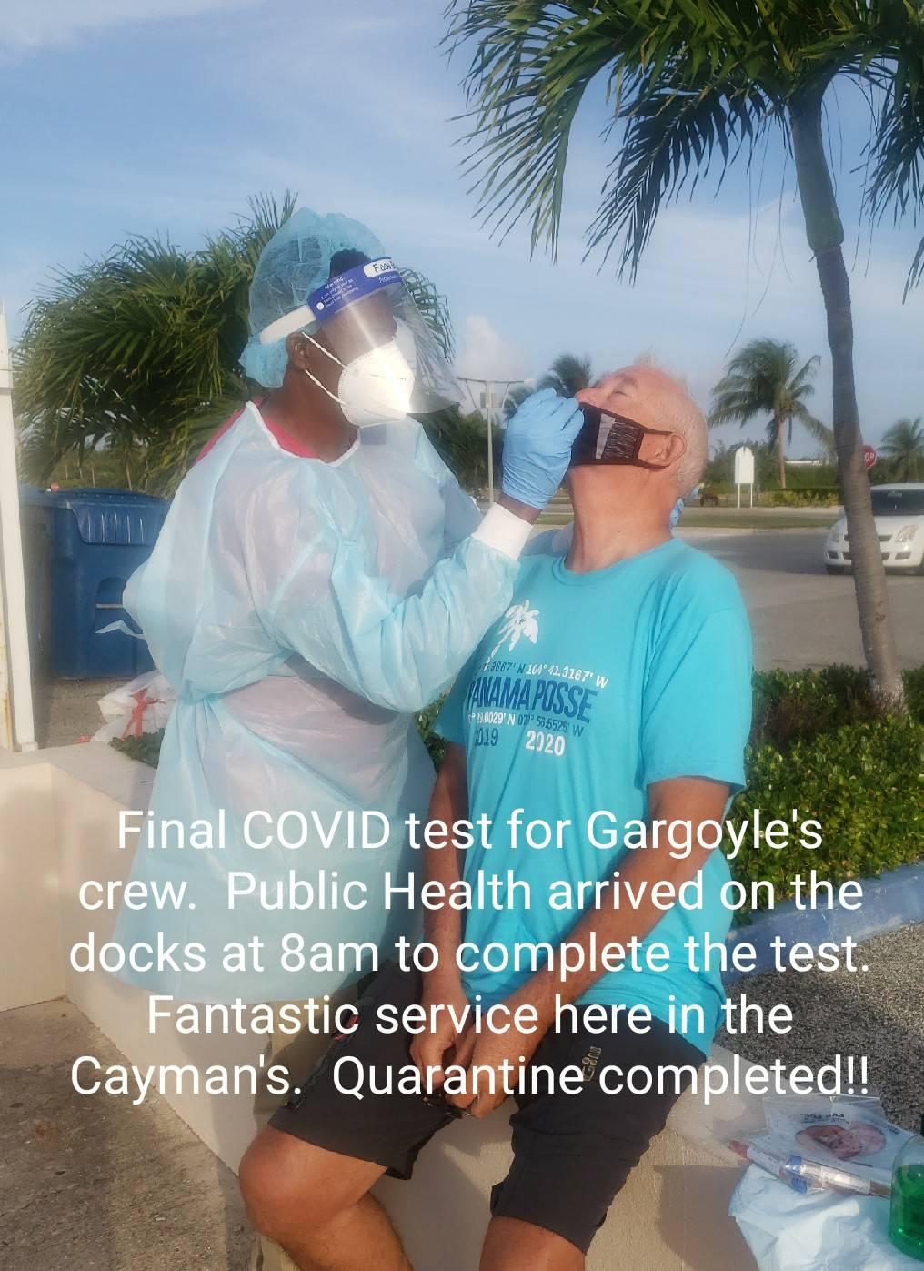 Gargoyles final COVID test in the Cayman Islands