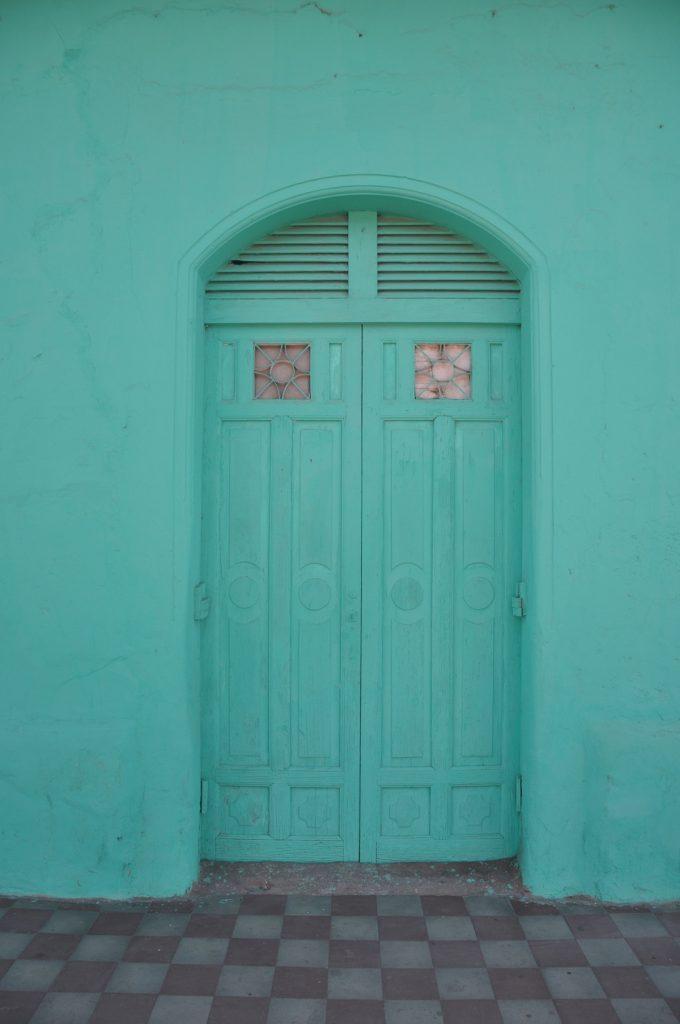 An old green door in Granada Nicaragua Panama Posse