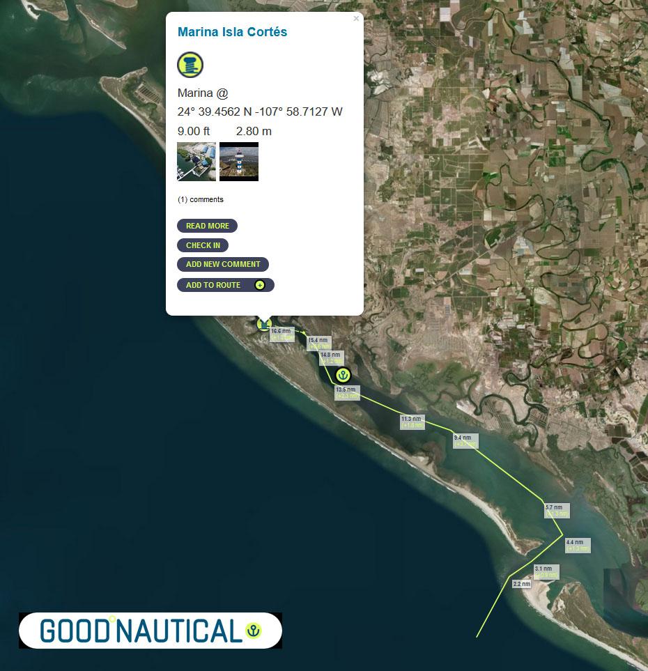 Apporach of Altata, MX in Good Nautical
