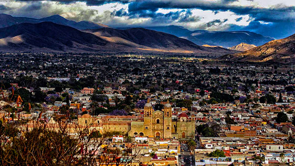 Oaxaca City in the Centro District in the Central Valleys region of the state. Heritage and cultural tourist