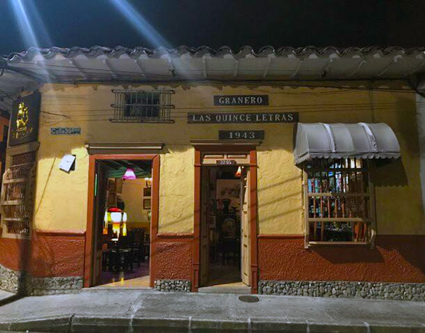 One of the local culinary hot spots RESTAURANT LAS QUINCE LETRAS