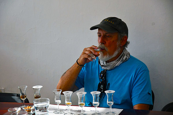 Kevin first mate of Exhibitionism a self-proclaimed life long rum expert geeing acquainted with Bonampak