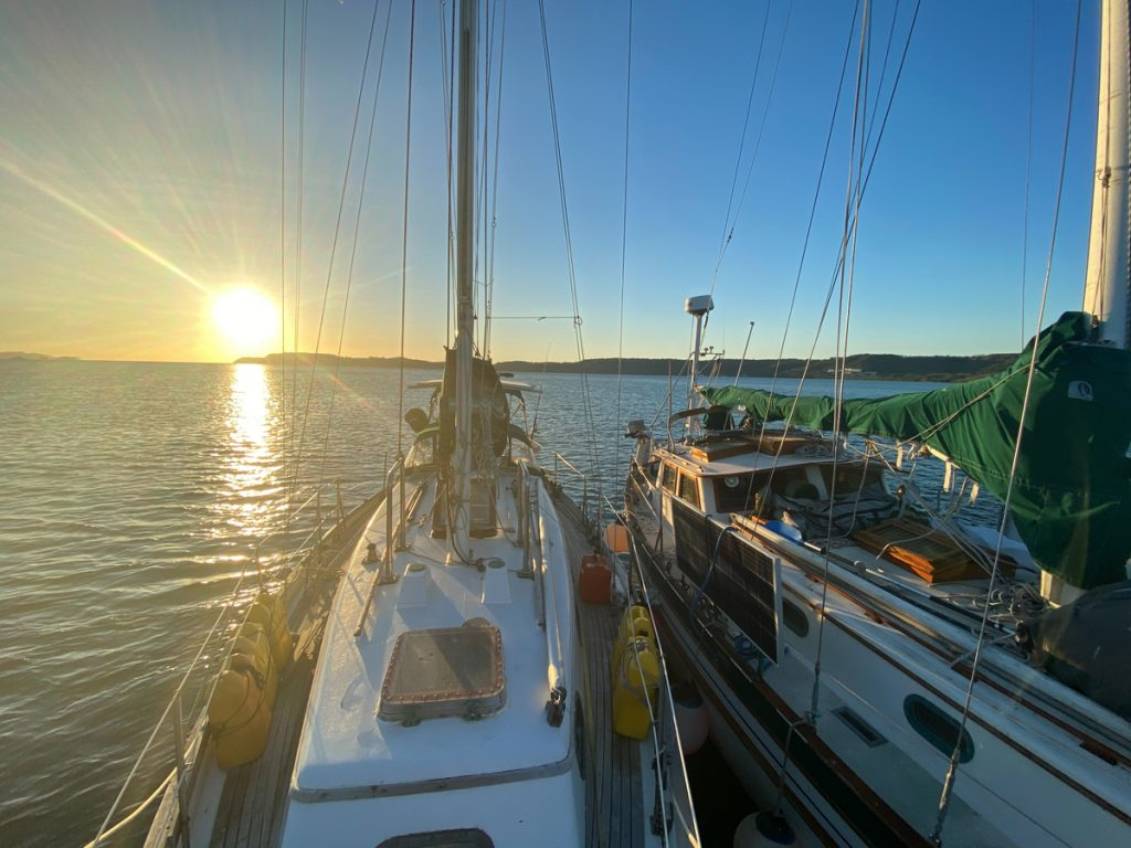 THISLDU and SECOND WIND rafted up in Northern Costa Rica