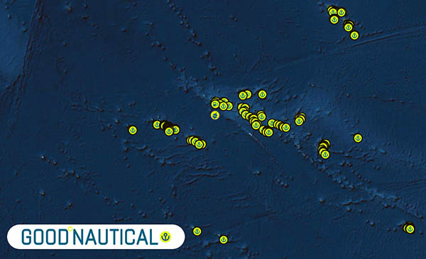 GoodNautical has over 1500 vetted Anchorages in the South Pacific