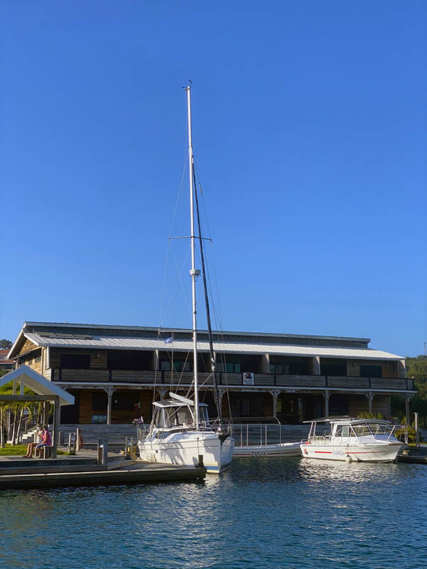 Barefoot Cay Marina is very small with very few slips