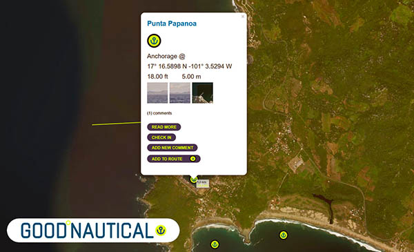 Puerto Guerrero AKA Punta Papanoa is in GOOD NAUTICAL
