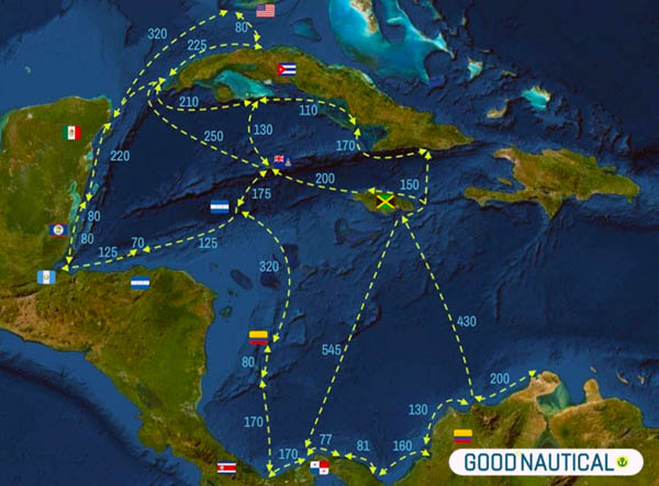 PANAMA POSSE CARIBBEAN ROUTES TO JOIN SAIL FROM FLORIDA TO PANAMA