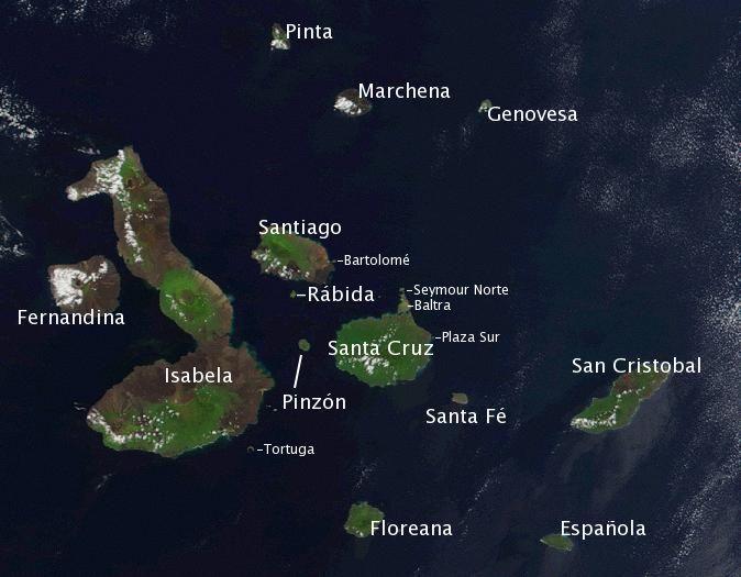 Galapagos Island Names