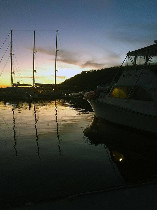 Superyacht Sunset at Marina Papagayo Costa Rica