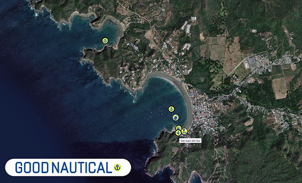 Clearing in to Nicaragua in San Juan Del Sur is as follows: in good nautical