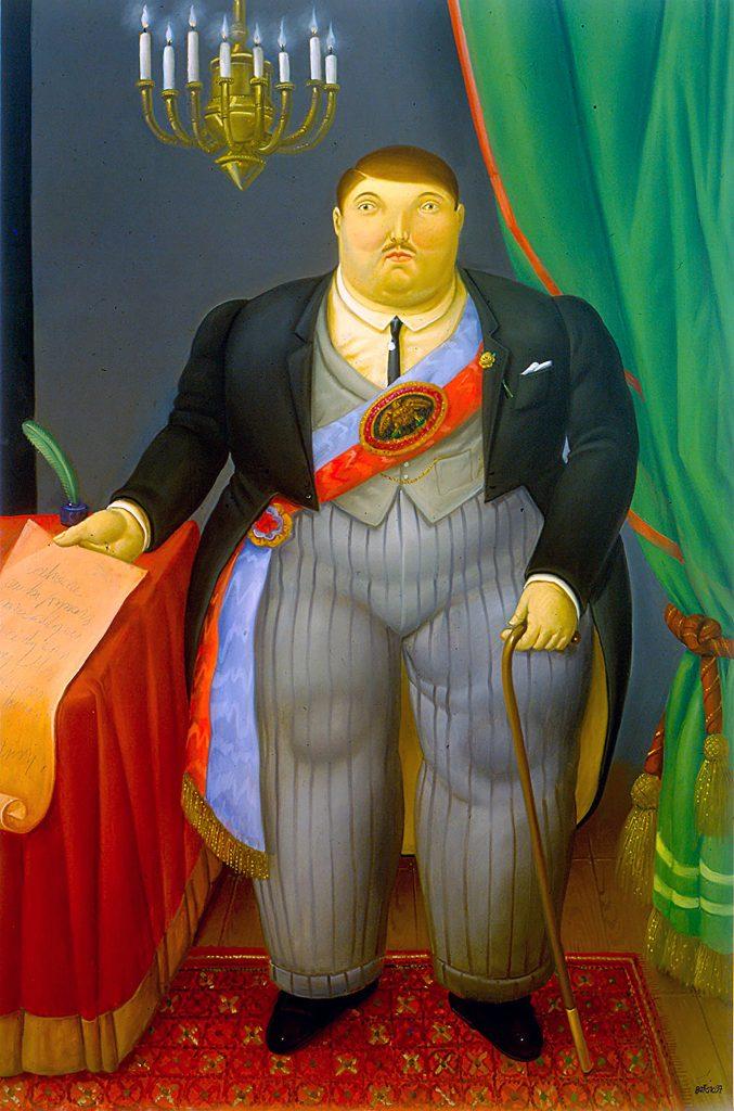 'El presidente' by Fernando Botero