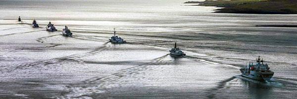 PANAMA POSSE CONVOYS forming through pirate waters