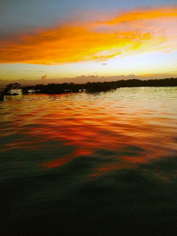 SUNSET IN BOCAS DEL TORO, PANAMA