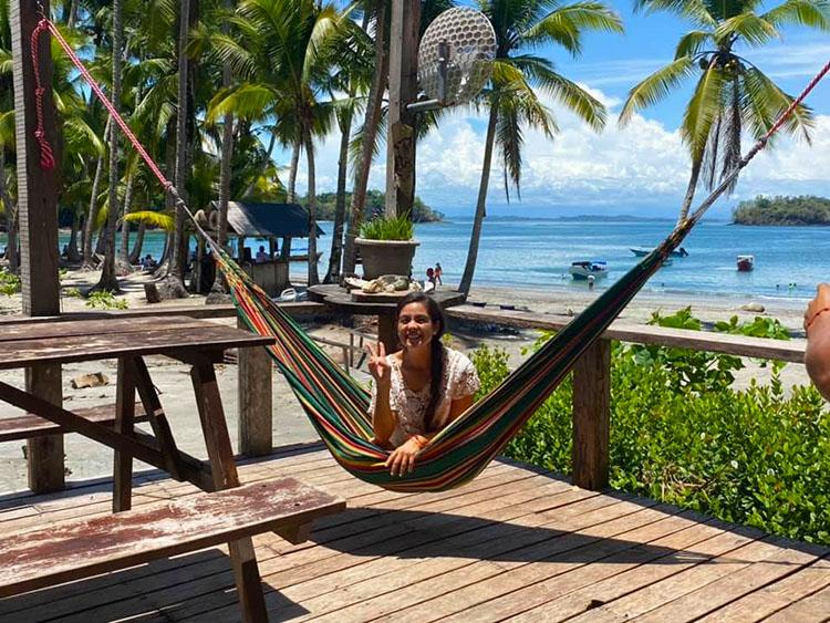 Natalia Elizabeth in the hammock