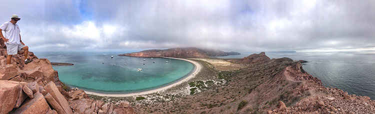 Baja Fog at anchor