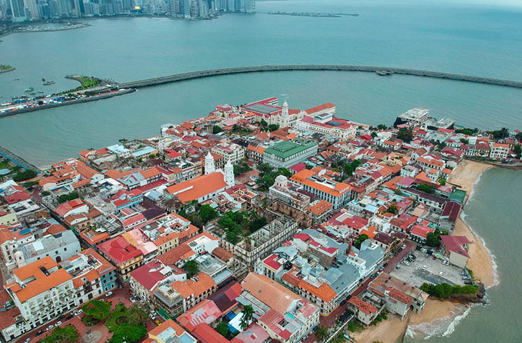 The quaint and historic streets in Casco Viejo