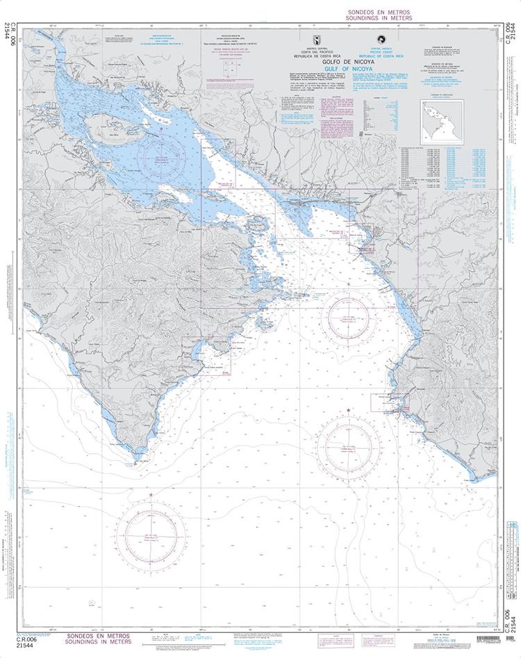 "Use backup Chart # C.R. 006, Gulf of Nicoya "" COSTA RICA 21544"