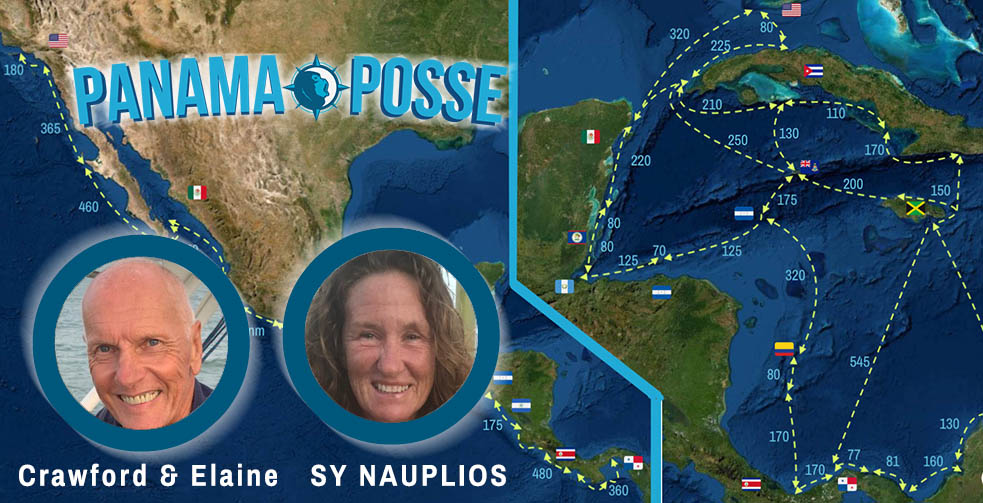 SY NAUPLIOS Sails in the Central American Rally Panama Posse