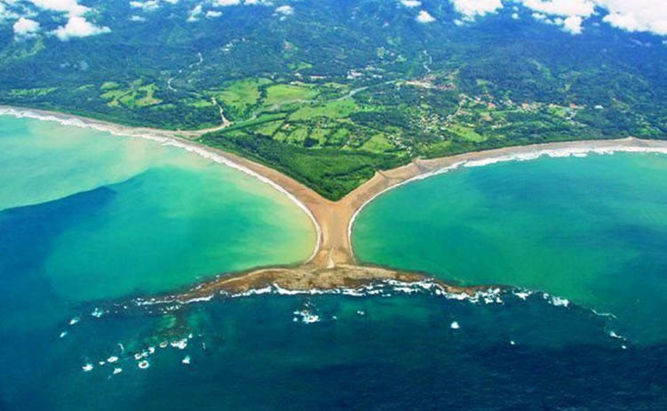 At Punta Uvita - the Marine Sanctuary and national Park in Costa Rica