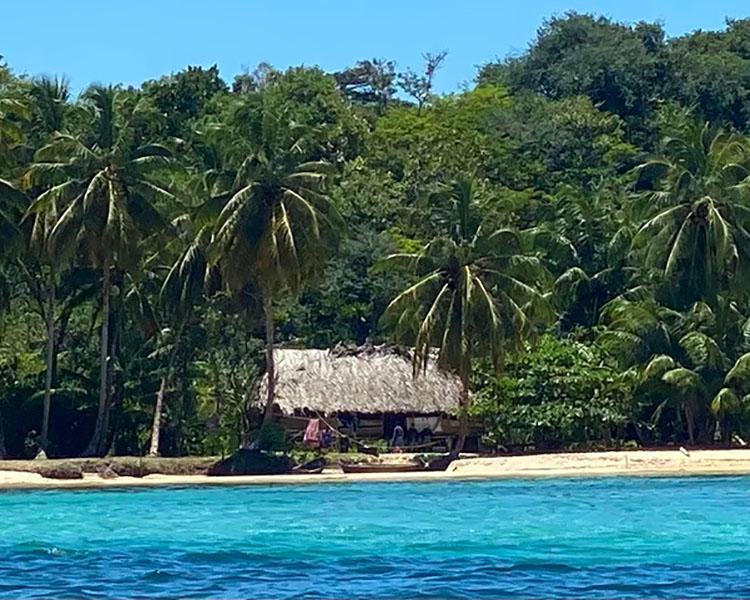 Near Bocas del tor en route to the Panama Canal is Isla de Veraguas from last week.