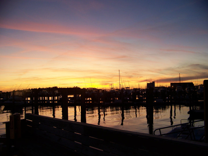 Portside Marina at sunset