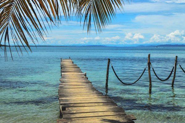 Amazing pier to the ocean