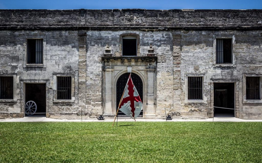 When Britain gained control of Florida in 1763 pursuant to the Treaty of Paris, St. Augustine became the capital of British East Florida, and the fort was renamed Fort St. Mark[8] until the Peace of Paris (1783) when Florida was transferred back to Spain and the fort's original name restored. In 1819, Spain signed the Adams–Onís Treaty which ceded Florida to the United States in 1821; consequently, the fort was designated a United States Army base and renamed Fort Marion, in honor of American Revolutionary War hero Francis Marion. The fort was declared a National Monument in 1924, and after 251 years of continuous military possession, was deactivated in 1933. The 20.48-acre (8.29 ha) site was subsequently turned over to the United States National Park Service. In 1942 the original name, Castillo de San Marcos, was restored by an Act of Congress.