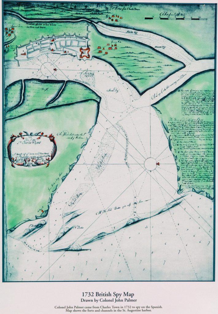 Castillo de San Marcos spy chart by british