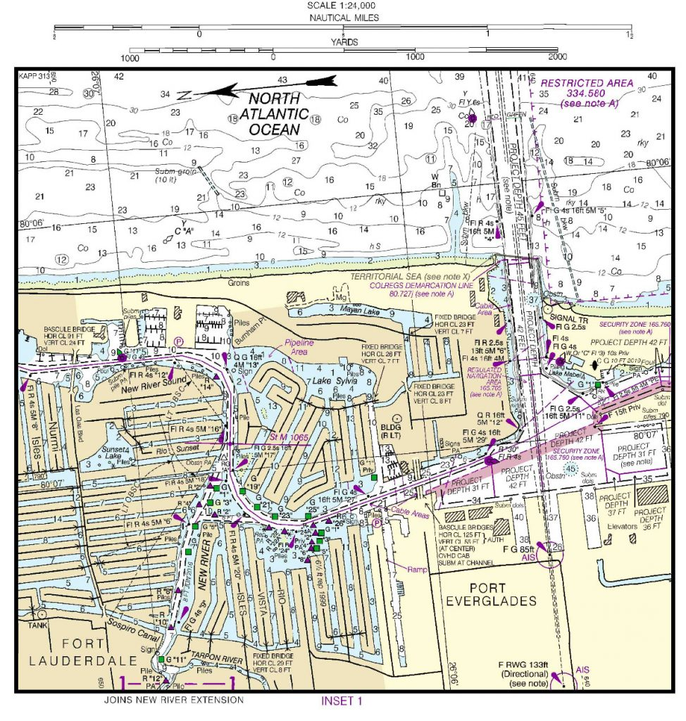 Pier 66 Marina and Resort charts