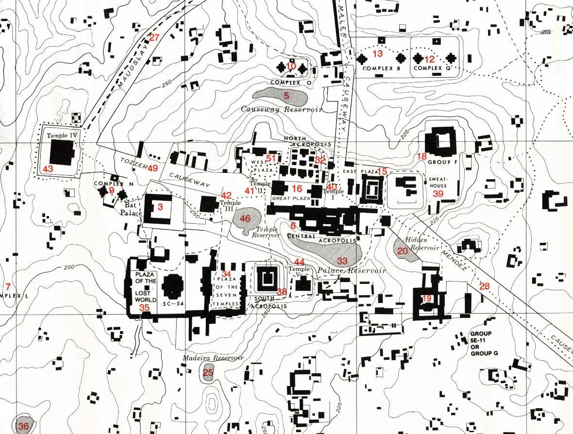Map of ancient TIKAL