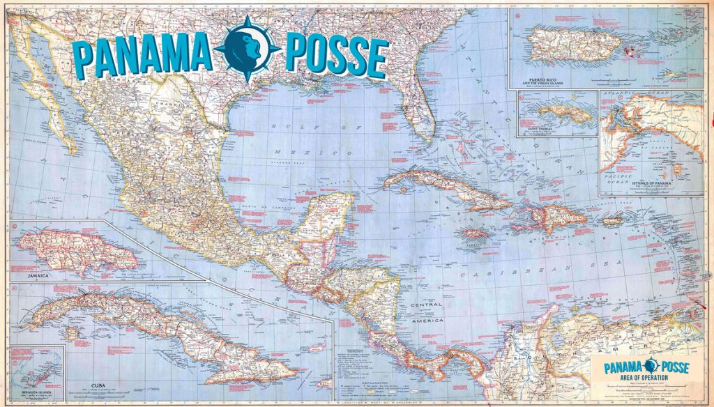 PANAMA POSSE AREA OF OPERATION