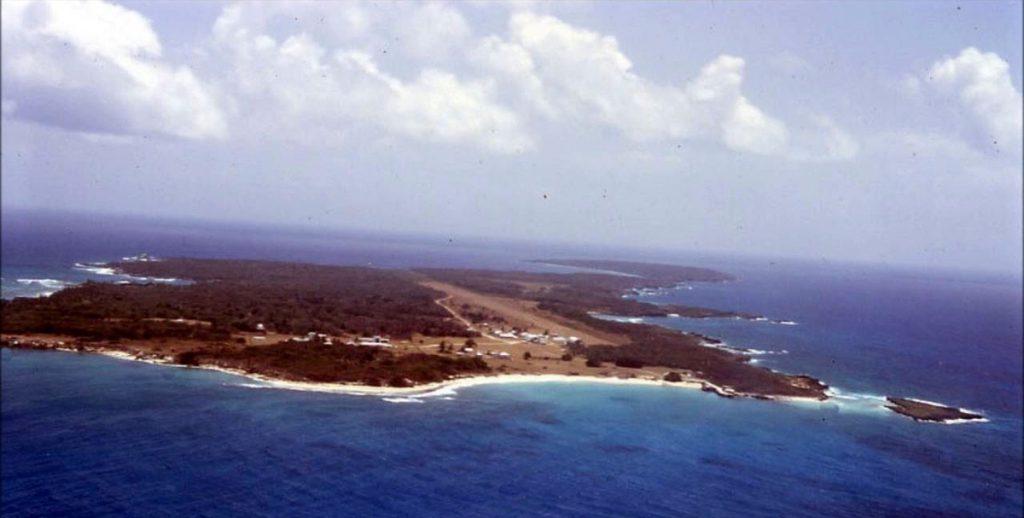 Swan Island between Cayman Islands and Roatan